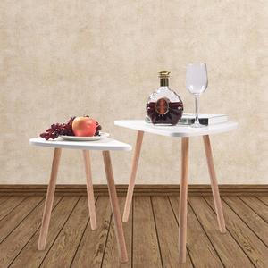 Image 4 - 2 قطعة طاولات خشبية حديثة مجموعة مكاتب لغرفة النوم غرفة المعيشة ديكور