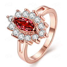 Silver Round-shaped Wedding Rings Zircon Ring for Women Bijoux Angel Ruby Femme Engagement Big Ring Diamand Jade Jewelry Gift chic faux ruby zircon alloy ring for women