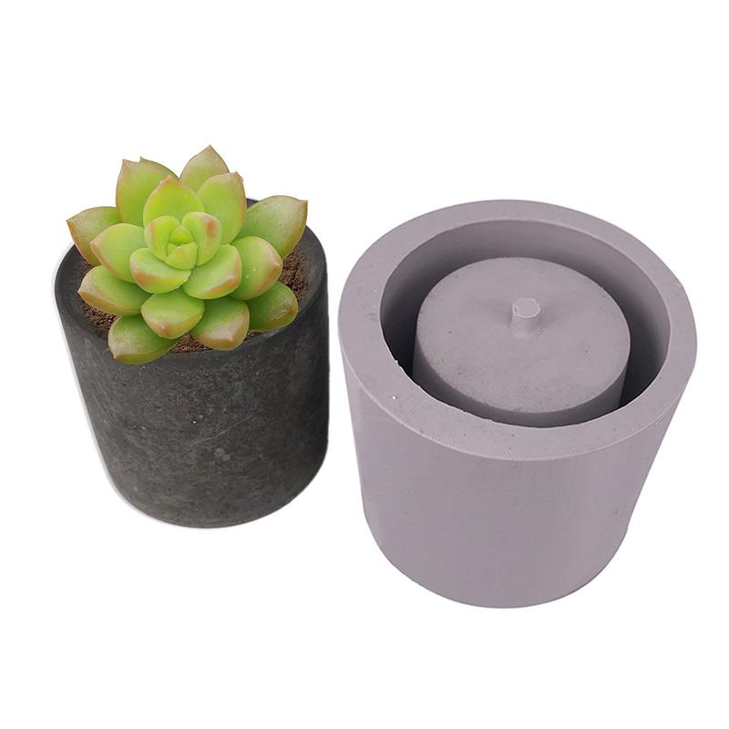 Round Shape 7.8*7.6 Cement Flower Pot Silicone Mold Home Decoration DIY Crafts Tool Succulent Plants Concrete Planter Vase MoldsRound Shape 7.8*7.6 Cement Flower Pot Silicone Mold Home Decoration DIY Crafts Tool Succulent Plants Concrete Planter Vase Molds