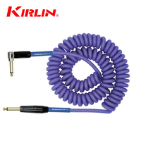 Kirlin 10M Premium Coil Instrument Cable Electric Guitar Line / Bass Line Instrument Cable Line Copper (Three color to choose)