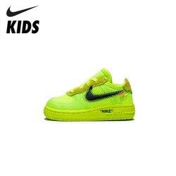 Nike Air Force 1 (TD) Original Neue Ankunft Kinder Mesh Laufschuhe Atmungsaktive Sport-Outdoor Turnschuhe # BV0853-700