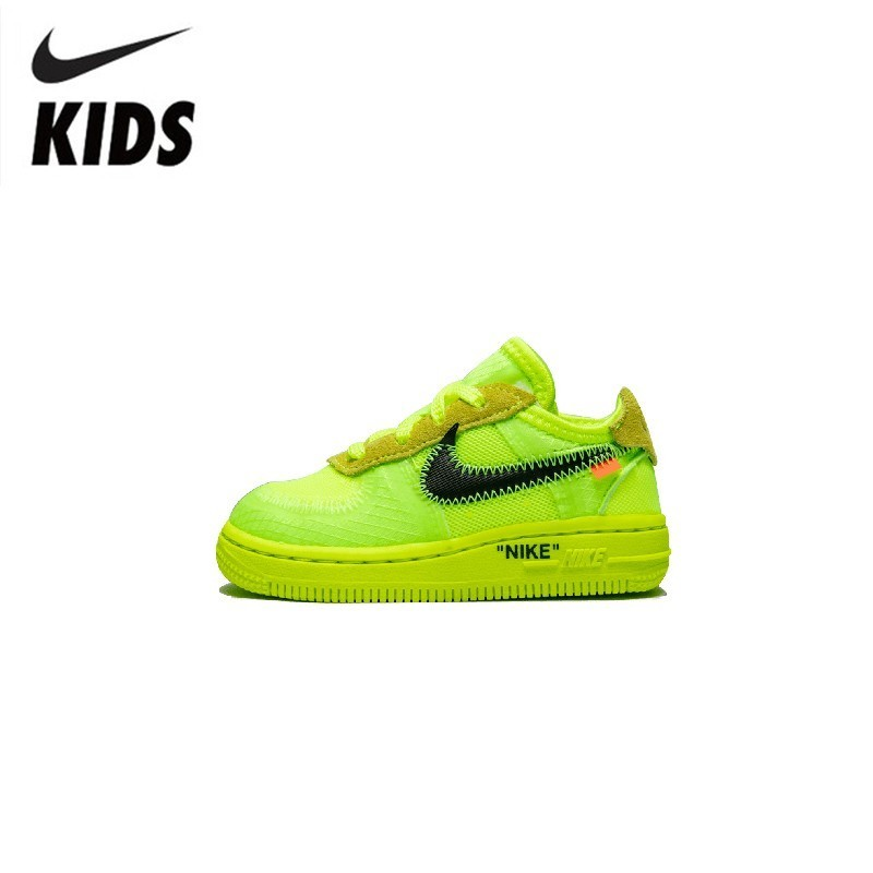 Nike Air Force 1 (TD) Original New Arrival Kids Mesh Running Shoes Breathable Sports Outdoor Sneakers #BV0853-700