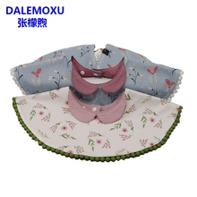 DALEMOXU Childrens 360 Waterproof Bib Cotton Bandana Baby Girl Scarf Tassel Drool Slab Saliva Towel Toddler Spitting Cloths
