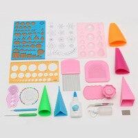 KiWarm 19Pcs/set Paper Quilling Craft Tool Full Kit Quilling Work board Board Mould Grid Guide Hamdmake DIY Paper Crafts Tool