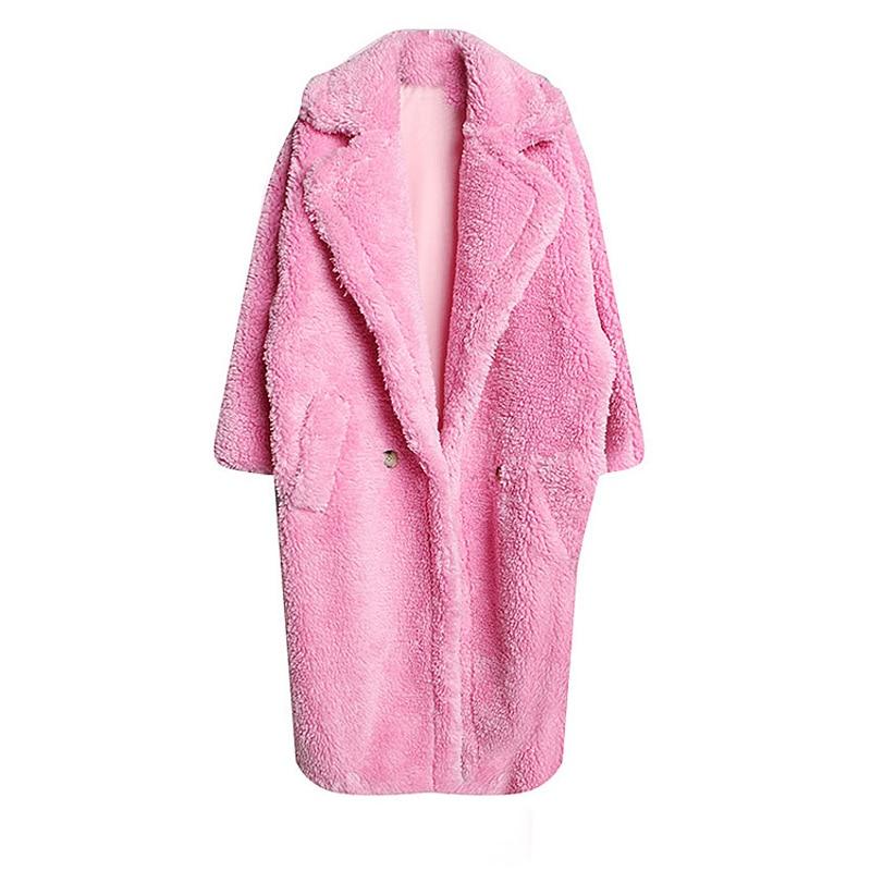 Oc785 Hiver Printemps À Revers Ourlet camel Colour Blue ewq Marée Femmes De Manteau Manches Nouveau Casual Pink Col Lâche 2019 Bouton Mode Laine Longues red Poches dark qtEEwRf