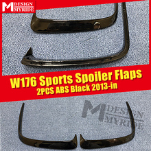 Fits For W176 Rear Bumper Canard Vent Rafts Splitter 2 Pcs Mercedes Benz A180 A200 A250 A45 Lip Splitters 2013-in