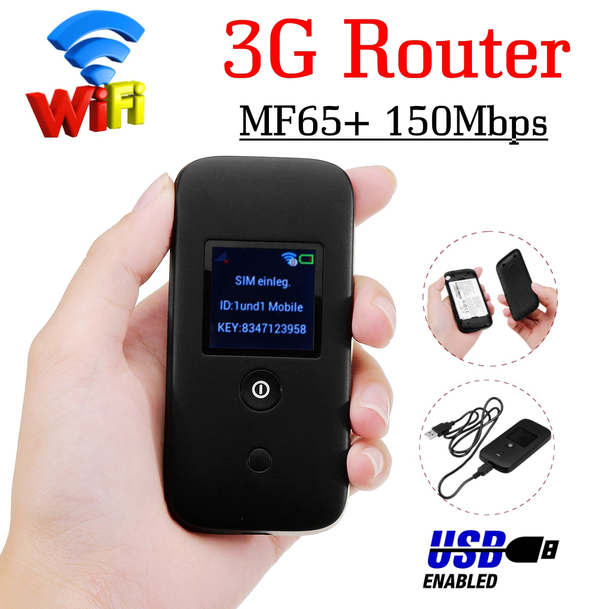 MF65+ 150Mbps 3G Wifi Router Car Mobile Wifi Hotspot Wireless Broadband Mifi Unlockeds Modem With Sim Card Slot цена в Москве и Питере