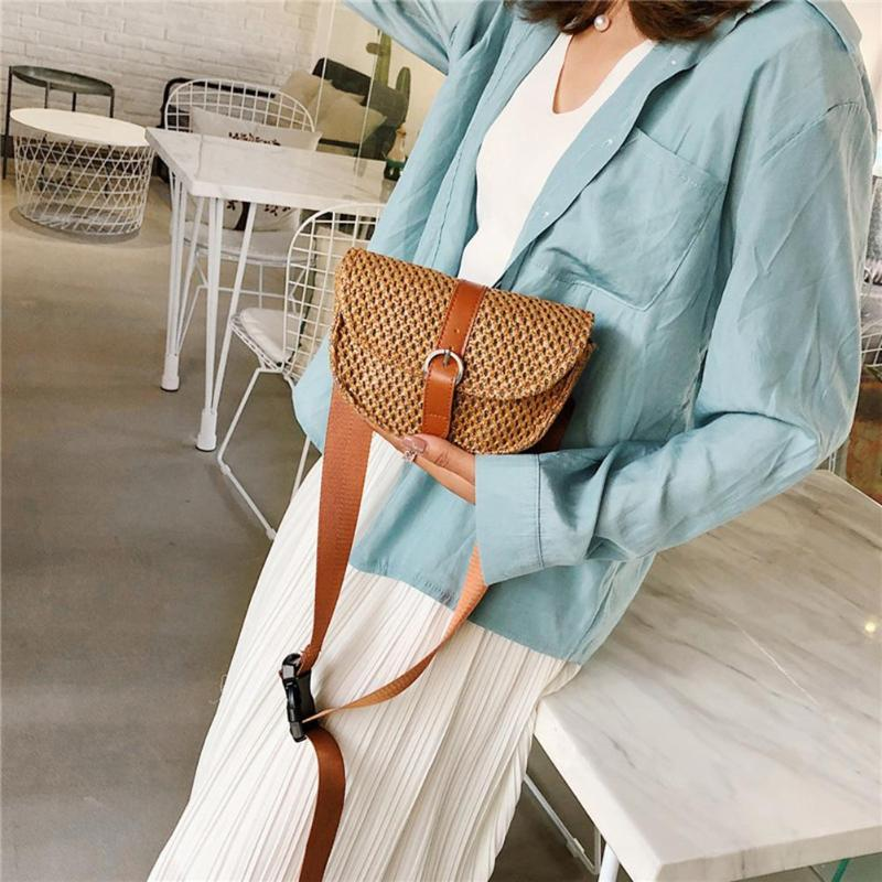 Bohemia Women Straw Waist Chest Bag Fanny Bag Small Holiday Beach Bag Female Shoulder Messenger Bags Bolsas Feminina Muje