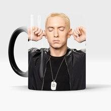 Eminem Magic Mug Coffee Mugs Beer Tea Ceramic Cup Heat Color Change Creative Gifts baldr earth mark cup tetris the heat change thermal color mugs