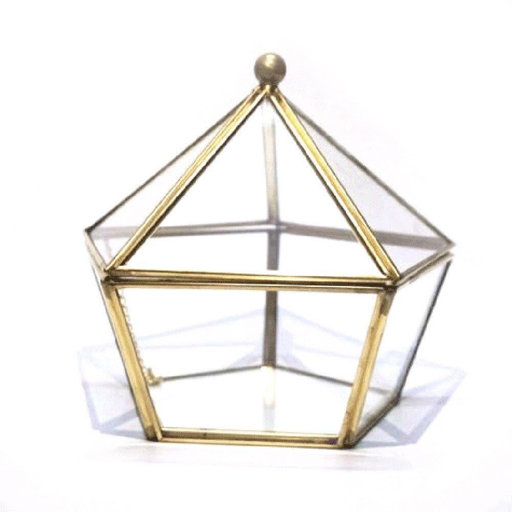 LUDA Glass Wedding Ring Jewelry Storage Box Wedding Jewelry Case Immortal Flower Glass Cover Creative Home Decoration