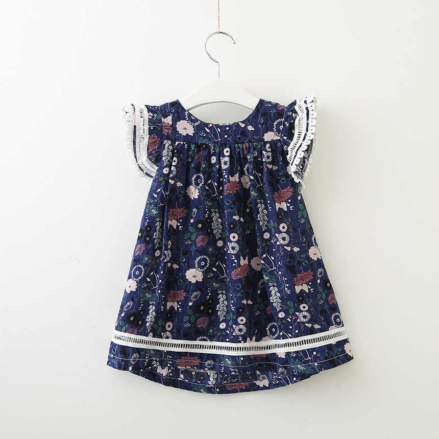 c42c59faa0b ... 2019 new summer cotton short-sleeve dresses age for 2 -10 yrs little  girls ...