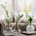 Ретропрозрачная стеклянная ваза для цветов Маленькая ваза для рта Террариум растения Цветок гидропонная бутылка из серии «сделай сам» ваз...
