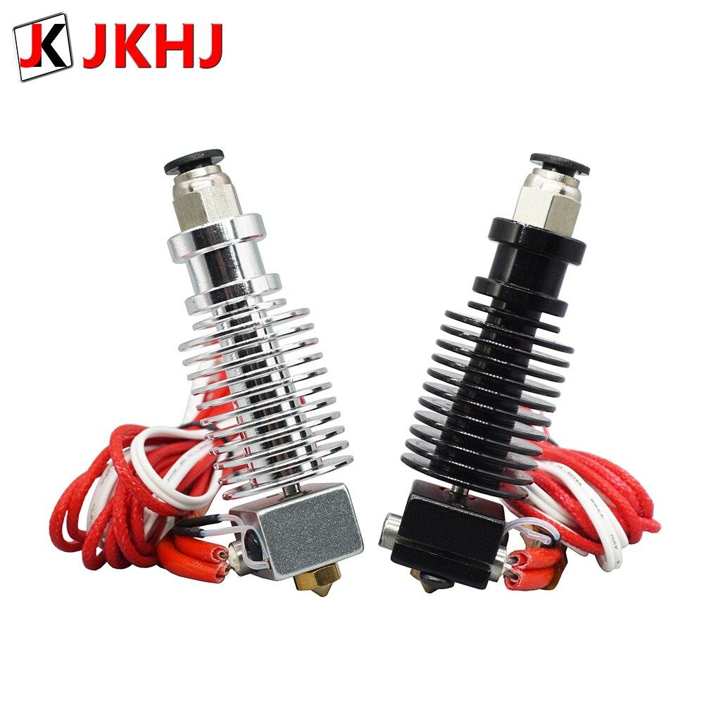 Free Shipping 3D Printer Partse E3D V6 Hotend Kit Remote Extruder 1.75/0.4mm Nozzle 12V/24V J-head