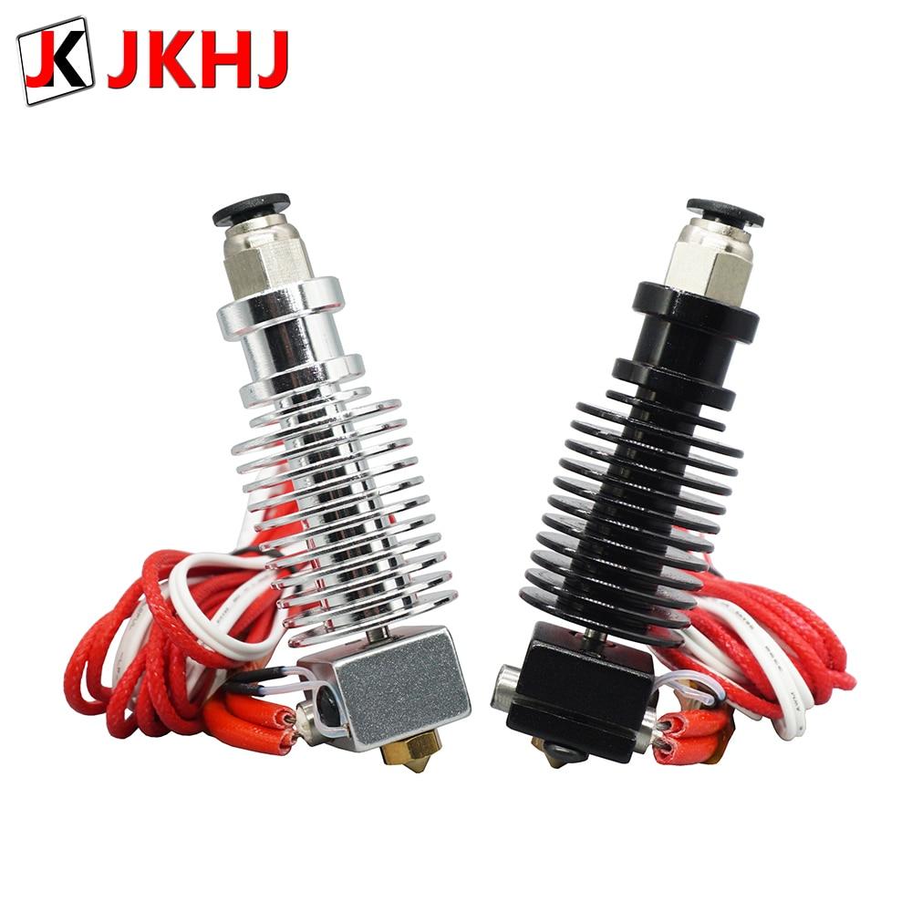 Free Shipping 3D Printer Partse E3D V6 hotend Kit Remote extruder 1.75-0.4mm Nozzle 12V-24V j-head
