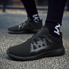 for adult man big size sneakers Outdoor walking jogging Trainer Athletic spring fall Breathable Mesh lace-up Running Sport shoes
