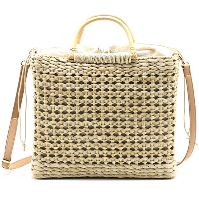 Handmade Woven Straw Beach Handbag