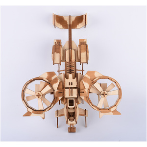 Image 5 - 189pcs High precision Laser Cutting Puzzle 3D Wooden Jigsaw Model Building Kits Airplaine Toys & Hobbies Drop shipping