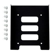 Suporte adaptador de metal para pc, portátil, 2.5 polegadas ssd hdd para 3.5 polegadas, doca, suporte de 8 parafusos, disco rígido gabinete de disco rígido