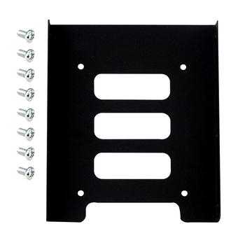 Przenośny 2 5 calowy dysk SSD HDD do 3 5 cala metalowy adapter do montażu uchwyt Dock 8 śrub uchwyt dysku twardego do komputera obudowa dysku twardego tanie i dobre opinie centechia 2 5 Dysk do 3 5 none