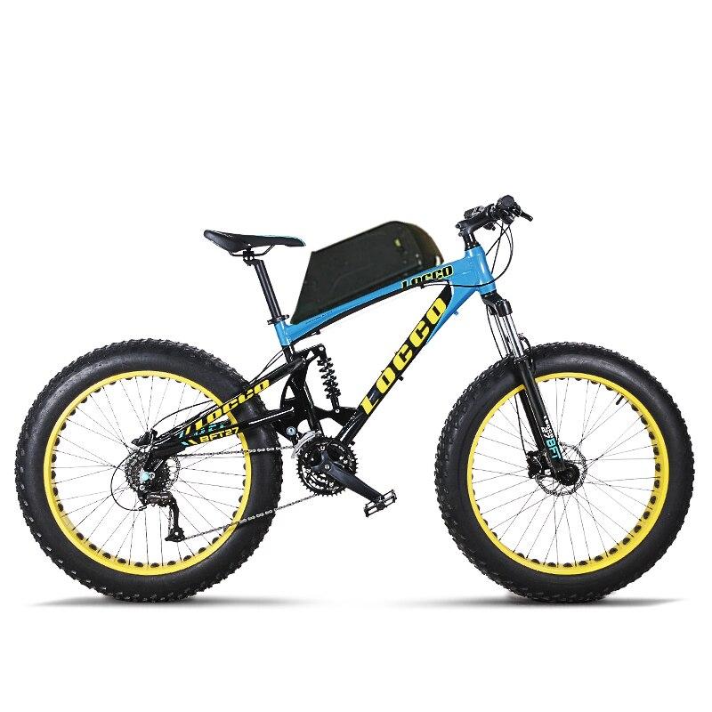 Trottinette électrique 1000 W Deux roue de bicyclette électrique Hors route Électrique Montagne 48 V Rouge/Noir/Bleu Puissant vélo électrique