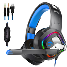 лучшая цена A66 Surround Bass Stereo Wired Casque Gaming Headphones with Mic LED Noise Cancelling Gamer Headset Earphone for Computer PS4