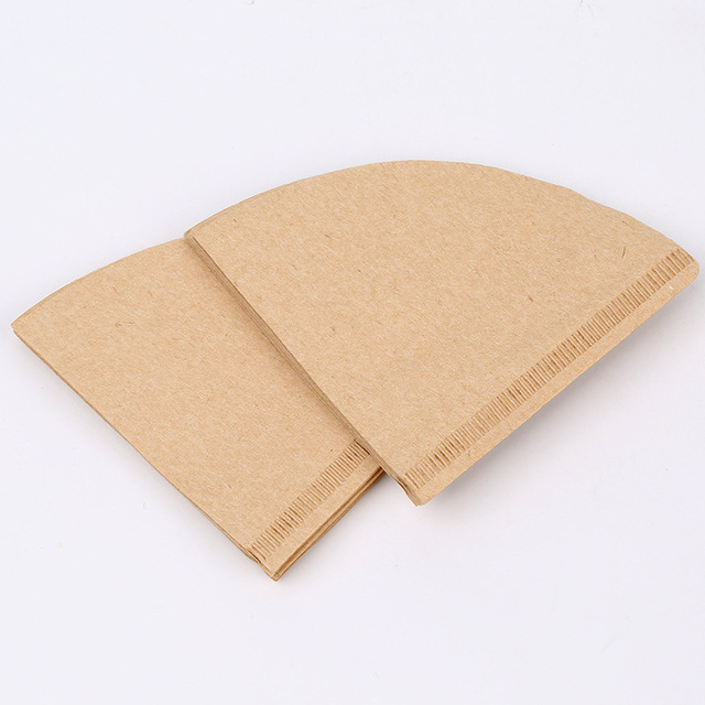 Hot V60 Filter Cup Special 102 Coffee Filter Paper Coffee Filter Papers Unbleached Original Wooden Drip Paper Cone Shape Coff 4