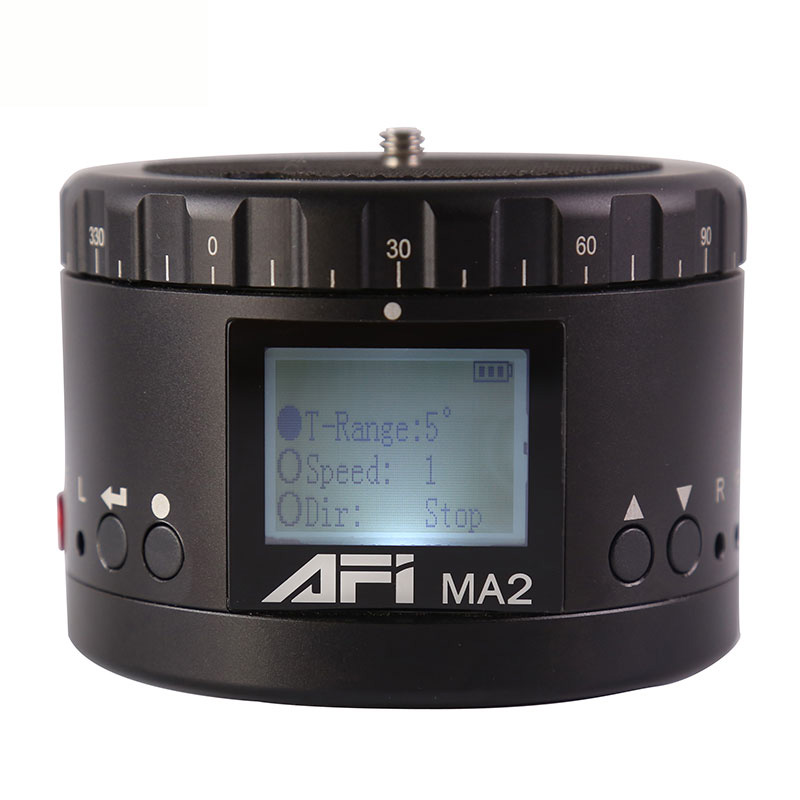 AFI Ma2 360 Time Lapse Rotador Câmera de Vídeo Cabeça Panorama Tripé Led Para Canon Nikon Sony Dslr Timelapse Do Telefone 360 panning
