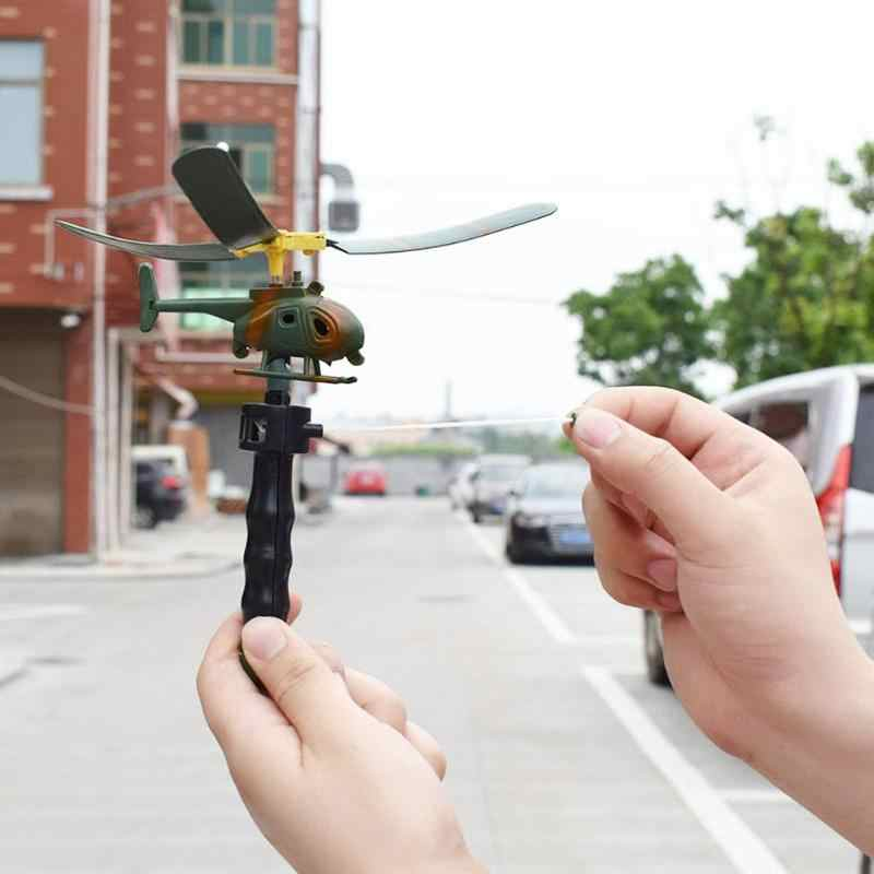 Crianças Brinquedos Modelo Handle Pull Avião Aviação Engraçado Helicóptero Aeronave Modelo de Brinquedo Helicóptero de brinquedo Para Crianças Do Bebê Jogo Do Presente