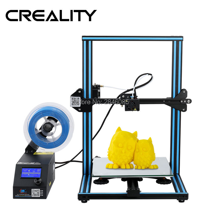CRIATIVIDADE 3D CR-10/CR-10S Impressora De Grande Tamanho de Impressão de 300*300*400 milímetros Semi DIY 3D Kit de Impressora alumínio cama Aquecida Filamento Livre