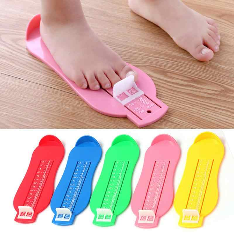 Kid Infant Foot Measure Blue Baby Shoes Size Tool 0-5Y Baby Foot Measuring Ruler Toddler Shoes Fittings Gauge foot measure #12