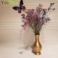 Vintage bronze vase Chinese carved bronze / brass vase creative home decorations