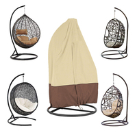 Outdoor Patio Hanging Chair Cover Wicker Egg Swing Chair Covers Heavy Duty Water Resistant Windproof Rain proof MK006