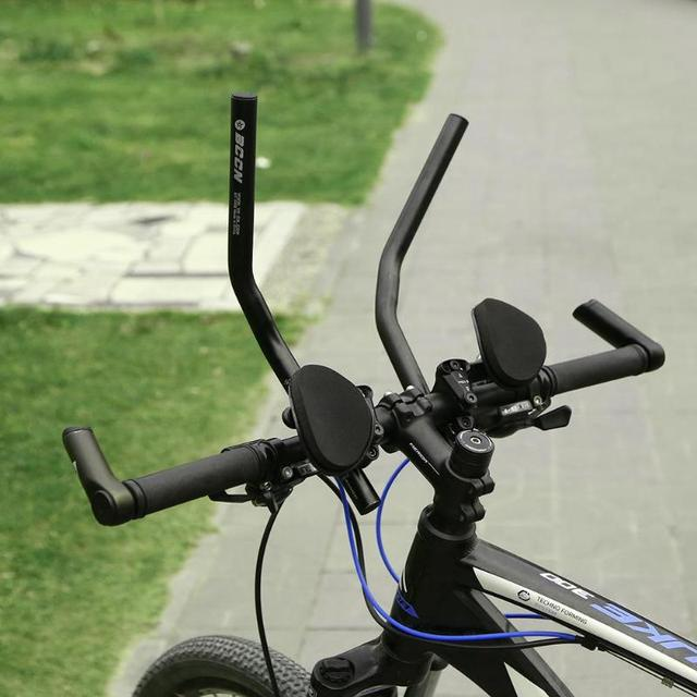 4795a480c29 1 Pair MTB Cycling Bike Rest Handlebar Aero Bar Bicycle Relaxation Handle  Bar Triathlon MTB Road Bike Arm Rest Bar Bike Aerobars
