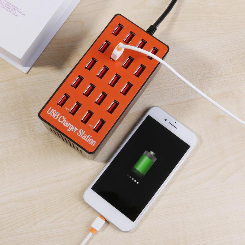 100W 20 Port USB Hub Wall Charger Adapter Charging Station w