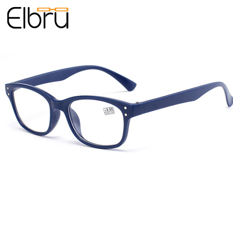 Elbru Ultralight Full Frame Reading Glasses Women&Men HD Resin Comfy Goggle Optical Presbyopic Glasses For Parents Gifts