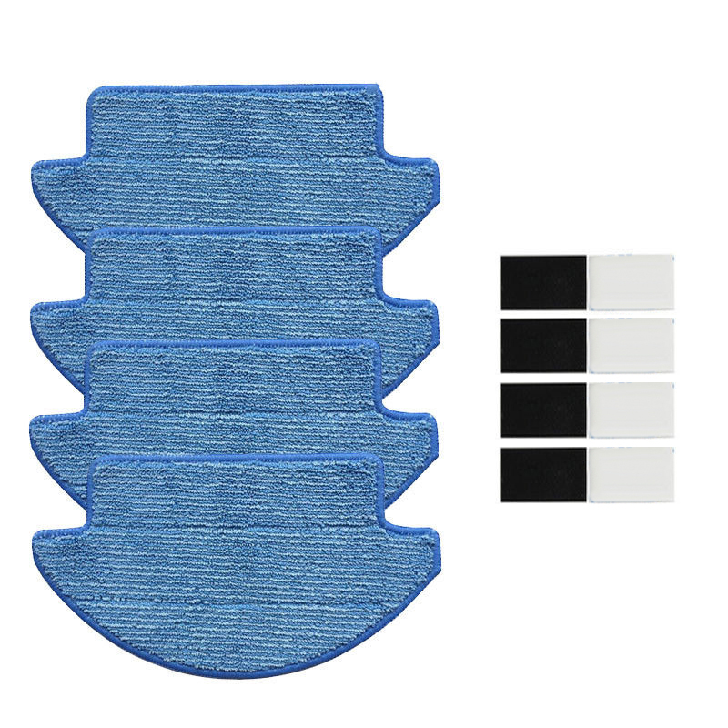 4Pcs Cleaning Mop Cloth + 4Pcs Magic Sticker For Xiaomi Mi Robot Vacuum Cleaner4Pcs Cleaning Mop Cloth + 4Pcs Magic Sticker For Xiaomi Mi Robot Vacuum Cleaner