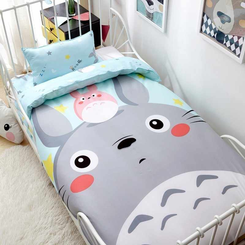 3pcs set Full Cotton Large Printing Cartoon Duvet Cover Set For Boy Girl Baby Bedding Sets Without Core