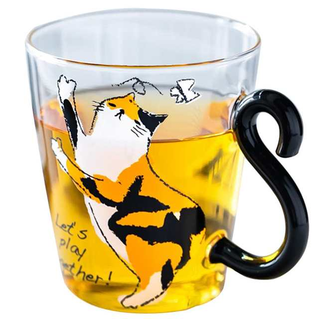 be388e8a3e7 8.5oz Cat Printed Coffee Mug Cute Water Juice Milk Cup For Breakfast  Drinkware Animals Kittens Tea Coffee Cup For Home-in Mugs from Home &  Garden on ...