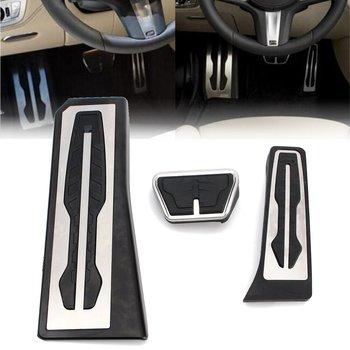 3pcs Brake Accelerator Footrest Pedal For BMW F01 F02 730Li 740i/Li 750i/Li LHD