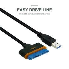 40 センチメートル USB 3.0 SATA 3 ケーブル Sata usb アダプタまで 6 5gbps のサポート 2.5 インチ外部 SSD hdd ハードディスクドライブ 22 ピン Sata III ケーブル