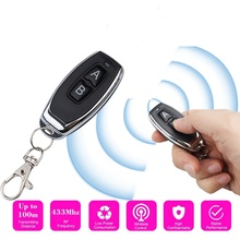 433Mhz Universal RF Remote Control Copy 4 Channel Cloning Duplicator Key Fob A Distance Learning Electric Garage Door Controller