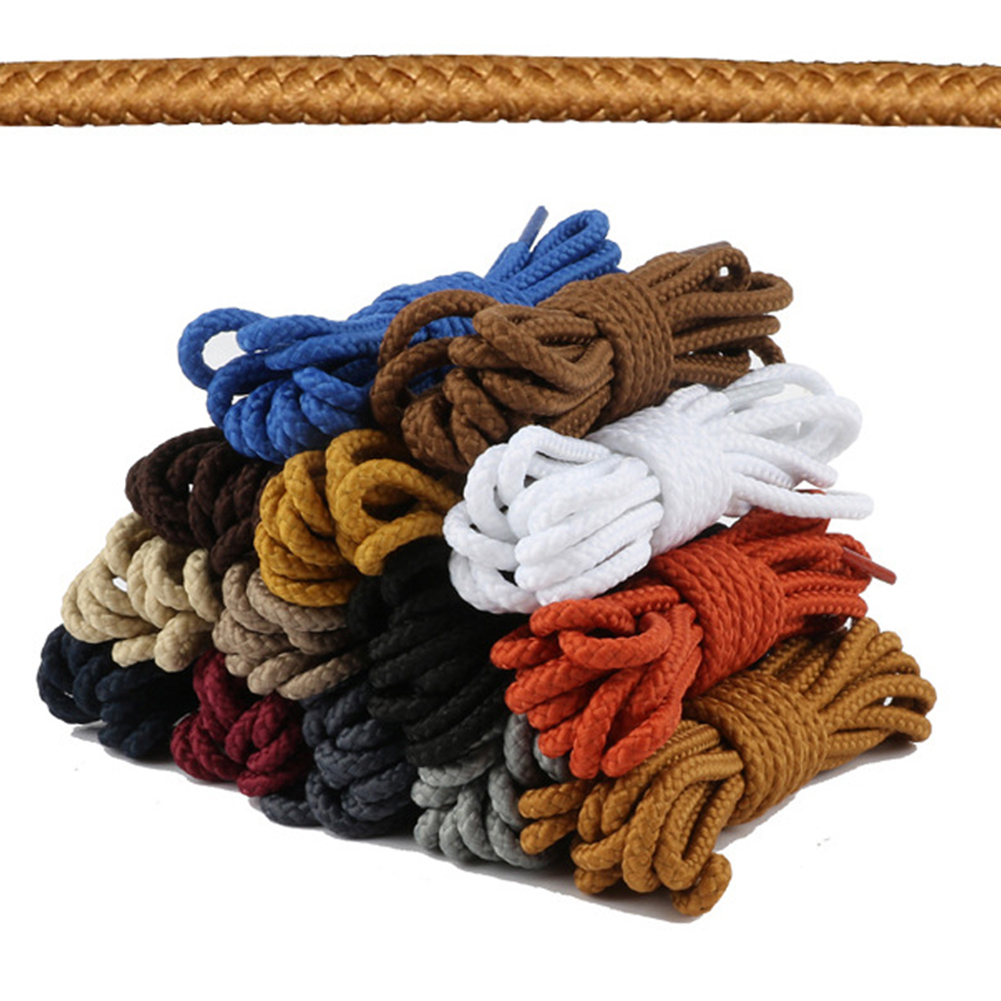 1Pair Round Shoelaces Polyester Solid Classic Martin Boot Shoelace Casual Sports Boots Shoes Lace 90cm 11 Colors