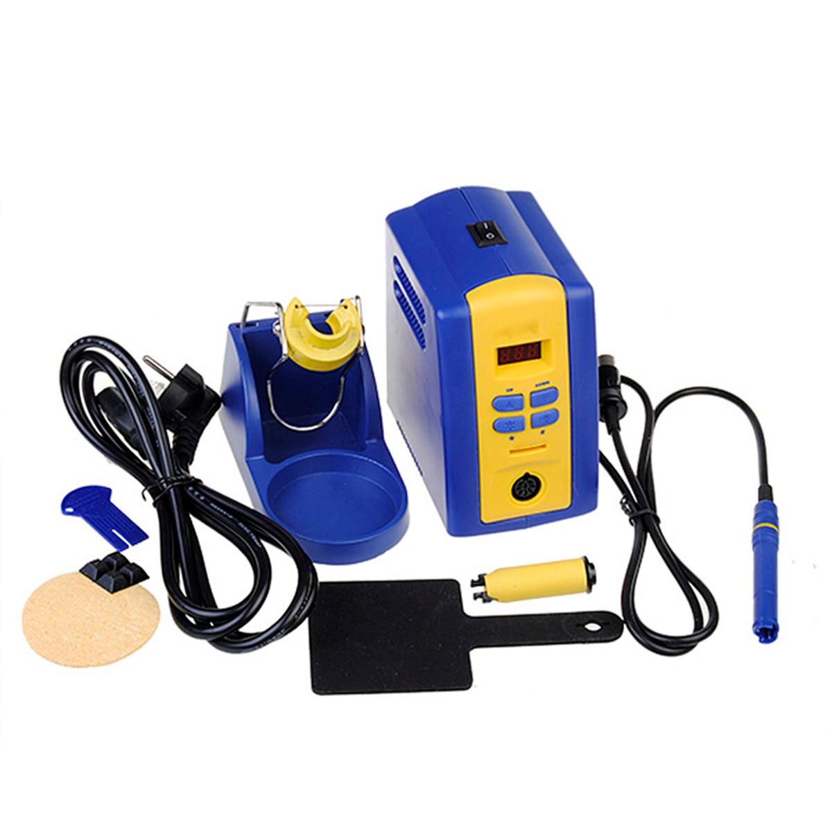 FX-951 220V EU Plug Solder Soldering Iron Station + 1pcs T12-k Iron Tips fx 951 fm 2027 fm 2028 fx 9501 soldering station spade scraper type solder tip solder iron tips t12 1405