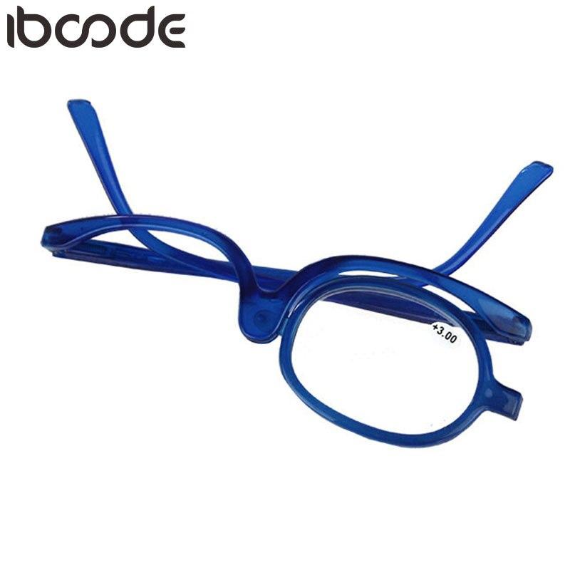 b7f19ca2d79 iboode Rotating Makeup Reading Glasses Folding Eyeglasses Women Magnify  Cosmetic Mirror Eyewear +1.0+1.5