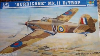 Trumpeter 02417 1/24 British Hurricane Mk.II D-Trop Fighter Plane Aircraft Model TH06668-SMT2 image