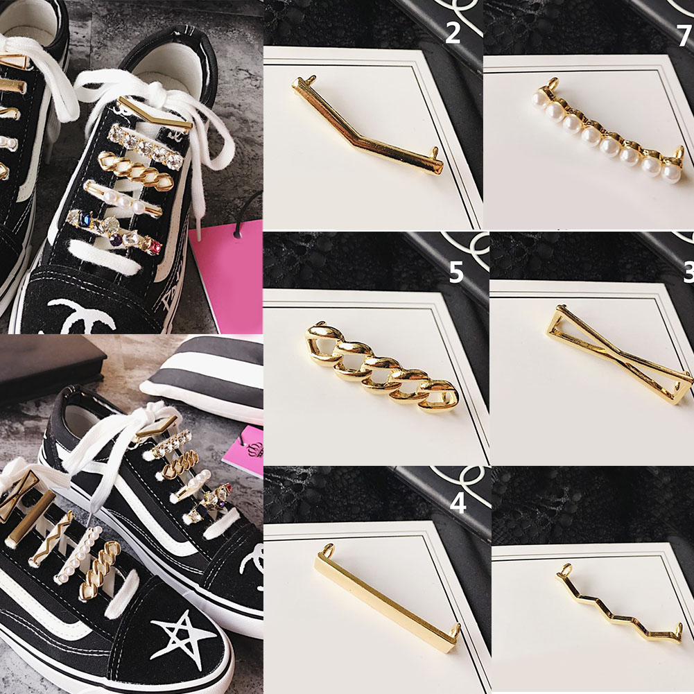 1pcs Fashion Simple Metal Rhinestone Pearl Bead Shoelaces Decoration Charms Men Womens Shoe Clips Decortaive Shoe Accessories1pcs Fashion Simple Metal Rhinestone Pearl Bead Shoelaces Decoration Charms Men Womens Shoe Clips Decortaive Shoe Accessories