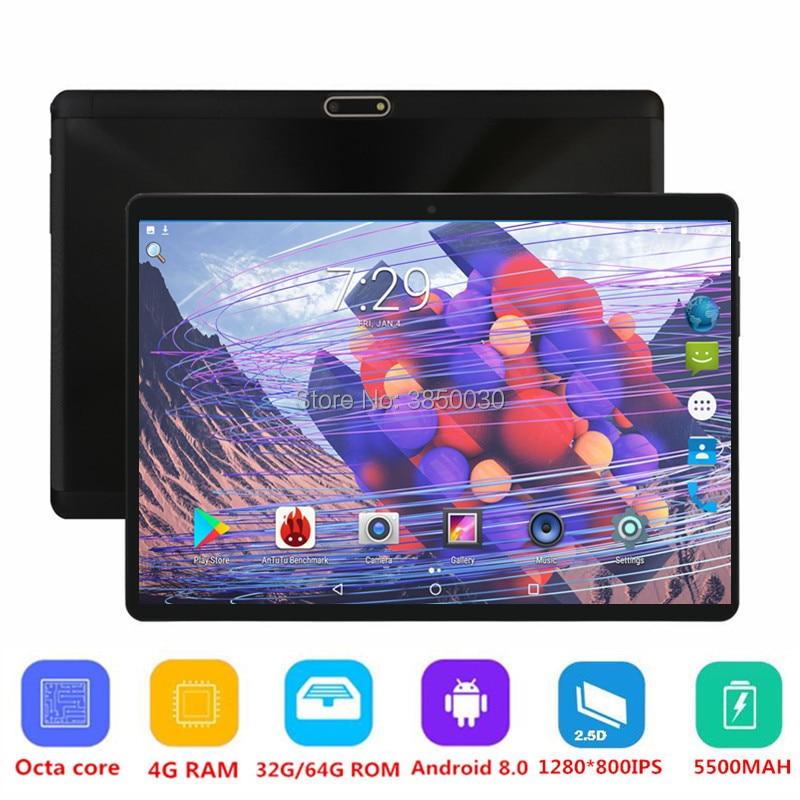 Livraison gratuite 10 pouces tablette PC Octa Core 4 GB RAM 64 GB ROM double cartes SIM Android 8.0 GPS 3G 4G FDD LTE tablette PC 10 10.1 Pad