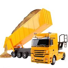 For Benz Dump Truck RC 2.4Ghz 6-channel Metal Dump Trucks Remote Control Toys RT