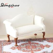 White Mini Furniture Toys Drawing Room Furniture Model Accessories Simulation Sofa Cushions Toy For 1:12 DIY Dollhouse WWP7574(China)