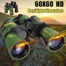 Binoculares de alta definición para caza al aire libre, telescopio óptico HD para caza al aire libre, observación de aves, visión nocturna de día de 60x60 3000M